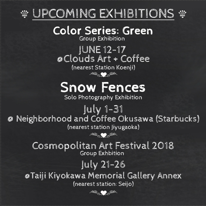 Lori-Ono-photography-upcoming-exhibitions-summer-snowfences-2018